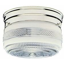 Design House 2-Light Chrome Ceiling Mount Fixture with Prismatic Glass 501999