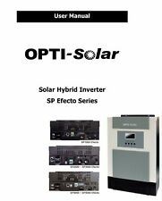 PDF user manual for hybrid solar PV 3000W inverter with charger from OPTI SOLAR