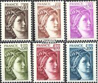 Frankreich 2235y-2240y (kompl.Ausg.) postfrisch 1981 Sabinerinnen