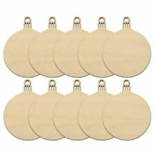 10pcs Wooden Round Bauble Hanging Christmas Tree Blank Decorations Gift Tag Z9T4