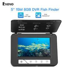 "Portable 5"" 15M Underwater Video Camera 1000TVL + 8GB Recorder Fish Finder + Bag"