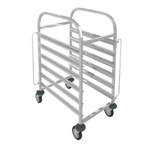 6 Slot Rack Kitchen Gastronorm Trolley Bakery Storage Stainless Steel Shelving