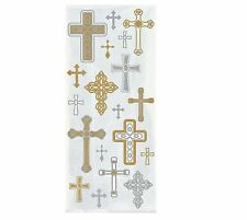 20 Cross Religious Cello Bags Gold Christening Holy Communion Baptism Party Gift