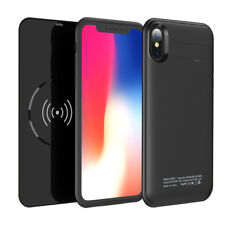 Akku Hülle Für iPhone X 5000mAh Power Case Batterie mit Qi Wireless Charging DE