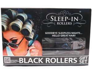 Sleep-in-Rollers Glitter or Black Rollers *Choose your style*