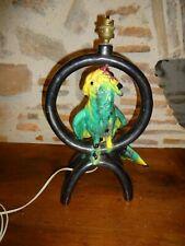 Rare  lampe  Vallauris Années 50 perroquet