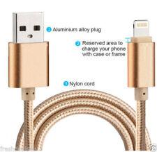 2 m de largo Trenzado Sincronización y Cargador Cable de datos USB para iPhone 5 5S 5 6 6S 7 + iPadAir C