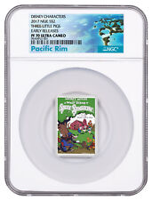 Disney Posters of 1930s 3-Little Pigs 1 oz Silver 2017 Niue NGC PF70 ER SKU50221