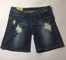 Women's Distressed Denim Shorts by Machine Nouvelle Mode Size Medium