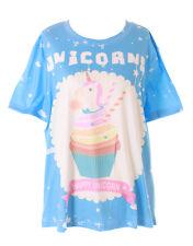T-63 Einhorn Cupcake Fantasia Magic Blu T-Shirt Pastel Goth Lolita Carina