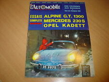 L'automobile N°237 Mercedes 230 S.Opel Kadett