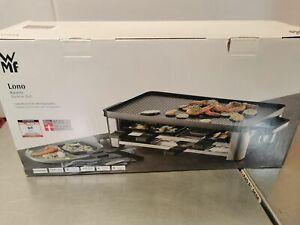 WMF Lono Raclette Grill mit Pfännchen und Schiebern, Raclette 8 Personen, edelst