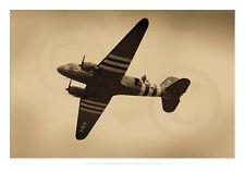 DC-3 Dakota  C-47 Skytrain Airplane Photo SAS Parachute Jump A3 Poster Print