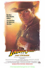 Indiana Jones And The Last Crusade Movie Poster Original Ss 27x40 Advance Style
