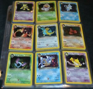 Complete Full Unlimited Team Rocket Set All 83/82 Pokemon Trading Cards TCG WOTC
