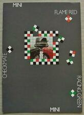 MINI CHECKMATE Flame Red RACING GREEN Sales Brochure c1990 FRENCH TEXT #E0750