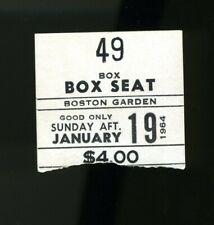 BOSTON CELTICS vs. SAN FRANCISCO WARRIORS Ticket Stub January 19 1964 @ Garden