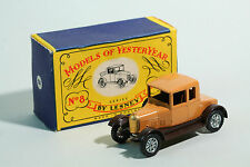 "1958 Matchbox Yester Year - No 8 Morris Cowley ""Bullnose""  - Lesney Prod. OVP"