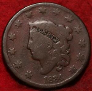 1834 Philadelphia Mint Copper Coronet Head Large Cent