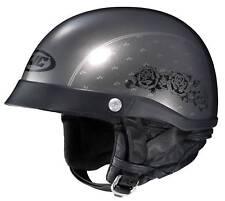 New HJC CL-Ironroad Black Rose Half-Helmet DOT Helmet, MC-5 Black, XS, S