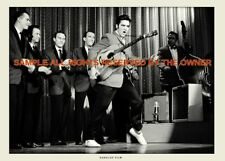 Elvis Presley  LIVE PHOTO 5 BY 7 + GIFT BILL BLACK ON BASS 1950`s SUPERB QUALITY