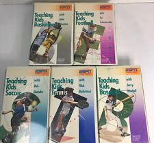 Set of 5 Vintage ESPN 1986 Videos Teaching Kids Sports VHS Series-John Wooden