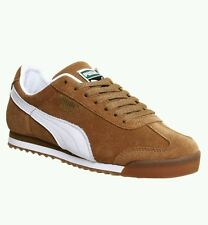 Puma Roma Chestnut White Gum Trainers Shoes Size 10 Mens Sneakers