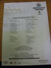 16/12/2004 Colour Teamsheet: Newcastle United v Sporting Lisbon [UEFA Cup] . Goo