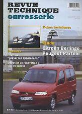 (6B)REVUE TECHNIQUE CARROSSERIE CITROEN BERLINGO PEUGEOT PARTNER