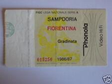 SAMPDORIA - FIORENTINA BIGLIETTO TICKET 1986 / 87