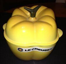 Le Creuset 2 1/4 Qt. Yellow Pepper Cast Iron Casserole EUC