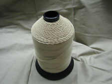 military thread cotton white 7 ply glazed finish size 8 (Lot  of 25 spools)