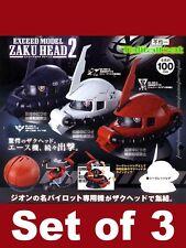 Bandai Gundam Exceed Model Zaku Head 2 Collection Gashapon Set (Set of 3)