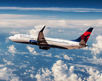 DELTA AIRLINES BOEING 737 8x10 SILVER HALIDE PHOTO PRINT
