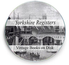 Yorkshire Parish Registers  Books DVD Genealogy History Research Birth Death 267