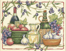 Cross Stitch Kit ~ Dimensions Tuscan Flavors Wine & Fruit #35232 OOP SALE!
