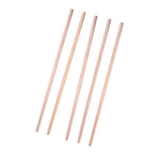 """5 Pcs Food-Grade 304 Stainless Steel Straws / Metal Straw Easy to Clean 8.5"""""""