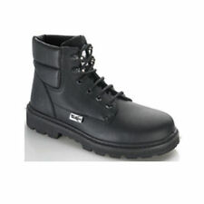 Tuskers Aquagrip Black Leather Safety Work Boot size 6 381