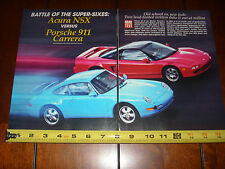 1994 Porsche 911 Carrera vs. 1994 Acura Nsx - Original Article