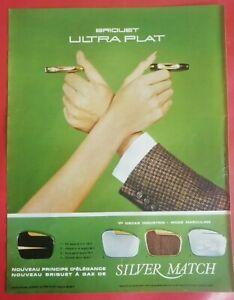 Publicité presse 1967  Briquet SILVER MATCH Ultra Plat BELL et HOWELL Projecteur