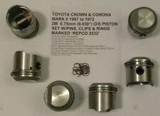 Toyota Crown & Corona Mark II 67-72 2M 0.75mm O/S Piston Set W/Pins,Clips,Rings