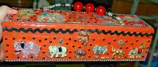 Pachyderm Wood Box Purse That'S Just Crazy! Handbag Elephant Ooak Usa African