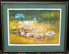 Hoi Lebadang Lithograph Print Landscape Signed Art Framed Original Vietnam