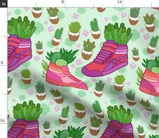 Succulents Cactus Sneakers Shoes Plants Betty Spoonflower Fabric by the Yard