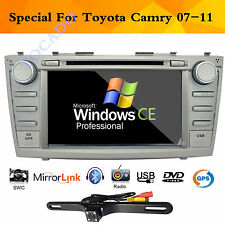 "GPS Navigation 2Din 8"" Car Stereo Audio DVD Player for Toyota Camry 2007-2011 BT"