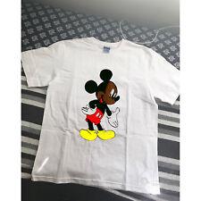 VTG Black Mickey Mouse Bootleg Rap Tee Hip Hop T Shirt 90s gildan reprint S-XXL
