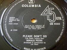 """DONALD PEERS - PLEASE DON'T GO     7"""" VINYL"""
