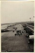 PHOTO ANCIENNE - VINTAGE SNAPSHOT - AVION ORLY AÉROPORT TARMAC - AIRPORT PLANE