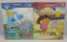 Lot Of 2 Woodboard 8 Piece Puzzle Blues Clues Dora The Explorer Sealed