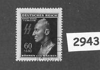 Used / cancelled Stamp / Reinhard Heydrich / Hitlers Hangman / 1943 Third Reich